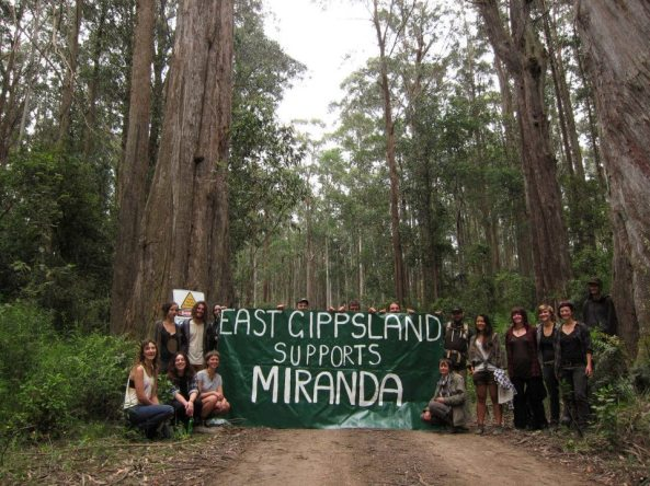 Conservationists from GECO take action in solidarity with Miranda