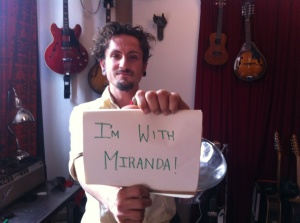 John Butler shows support for Miranda
